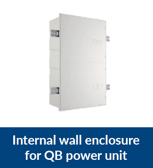 Internal wall enclosure for QB power unit