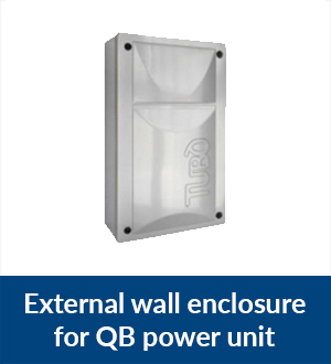 External wall enclosure for QB power unit